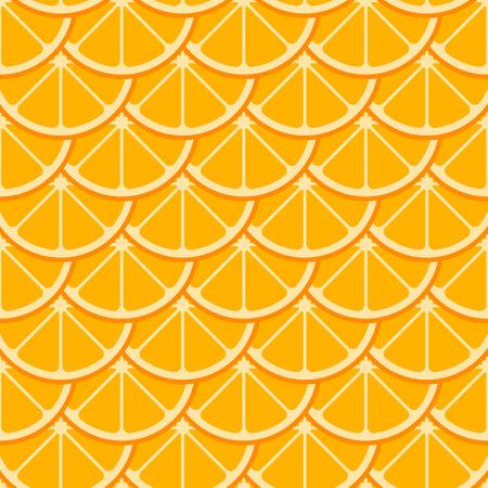 Orange slices vector seamless pattern