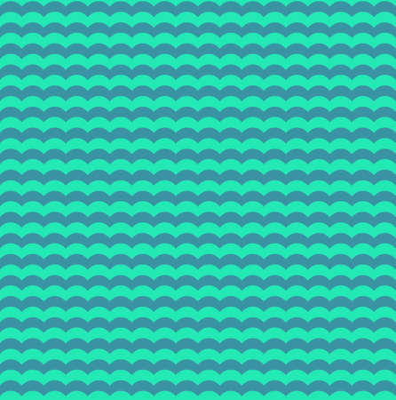 Turquoise and teal waves seamless pattern