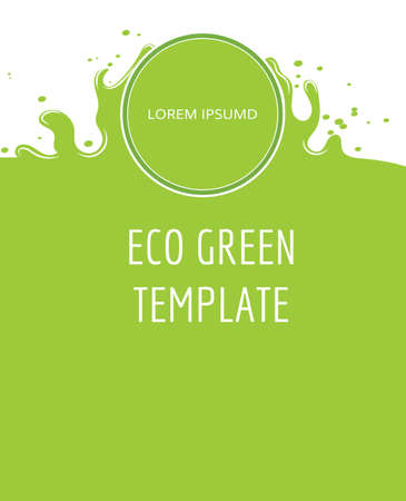Eco green organic natural background Ilustracja