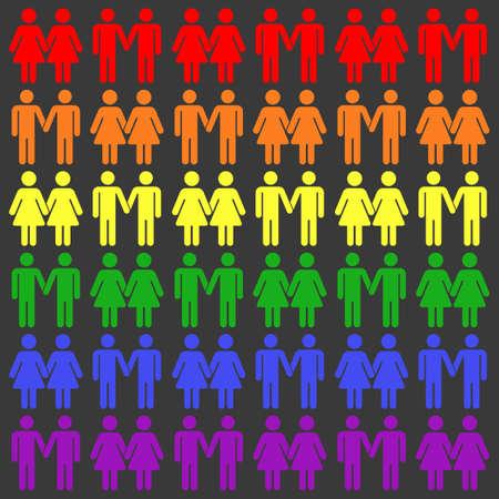 Vector LGBT seamless pattern. Gay and rainbow illustration Vector Illustration