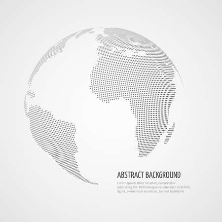 World map vector infographics template with internet connections, Map of planet, global graphic map illustration