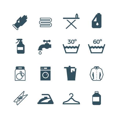Housework and laundry vector icon. Laundry machine and washing, illustration of equipment washing