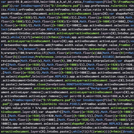 Javascript program code programming script vector background. Coding script command, programming function javascript illustration
