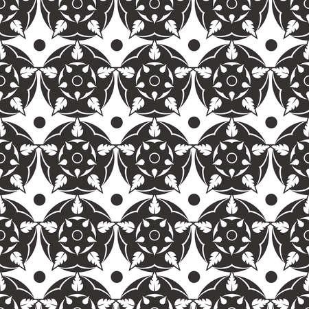 Elegant abstract flower background seamless pattern. Grey roses pattern design. Vector illustration