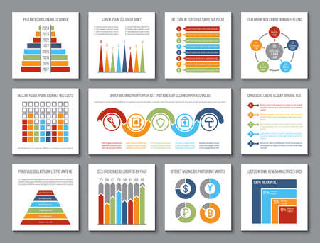 Data graphics. Analytics bar and budget graph, visualization charts and statistics histogram. Presentation infographic vector template. Diagram and graph information, statistic chart data illustration