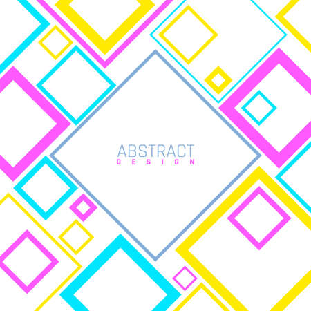 Bright abstract background. Modern geometric social media template, ad or marketing vector banner. Illustration template background to business, design bright trendy Vettoriali