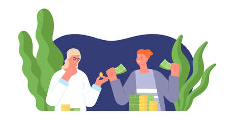 Gender gap salary. Equality pay, woman man inequality wage opportunities. Girl job discrimination, corporate social rights utter vector concept. Illustration salary gender rights, woman and man