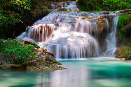 Erawan National park  in Kanchanaburi province in Thailand photo