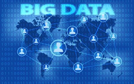 big screen: Big data and marketing concept. Project for web banner and creative process. Big data visualization futuristic infographic. Social network representation. big data graph.
