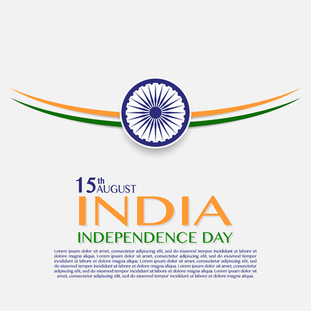 Independence Day of India. 15 th of August. illustration of grungy Indian Flag for Indian Independence Day. indian flag made with color strokes in tricolor illustration