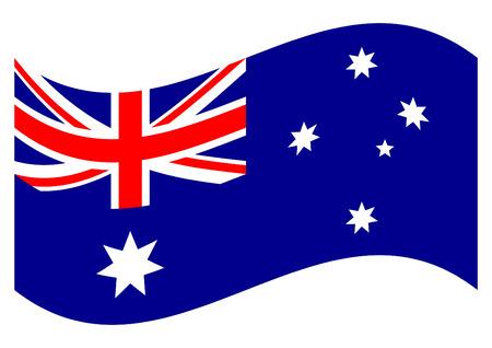 Australian National Flag. Waving flag of Australia
