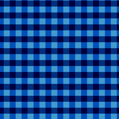 Seamless checkered vector pattern. Vintage blue plaid fabric texture. Abstract geometric background. Vintage blue plaid fabric texture. Tablecloth for picnic Texture. Seamless checkered pattern.