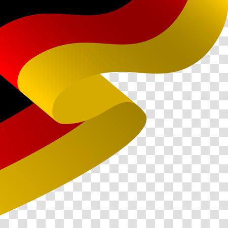 Illustratie van een wuivende Duitse vlag. Stock Illustratie
