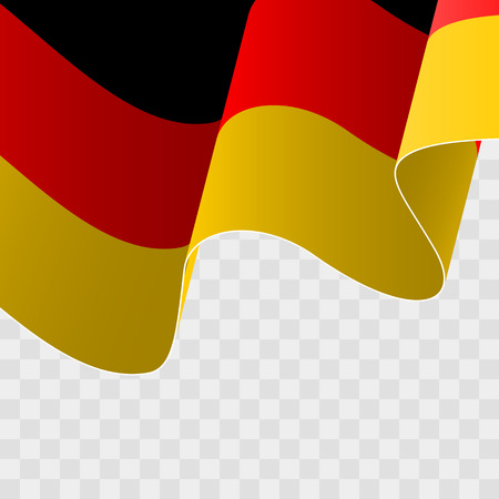 Illustration of a waving German flag. Stock Vector - 84982940