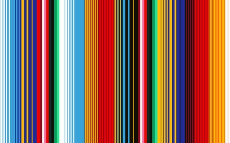 Seamless pattern with colorful stripes for fabric and wallpaper. Mexican Blanket Stripes Seamless Vector Pattern. Background for Cinco de Mayo Party Decor or Mexican Food Restaurant Menu.