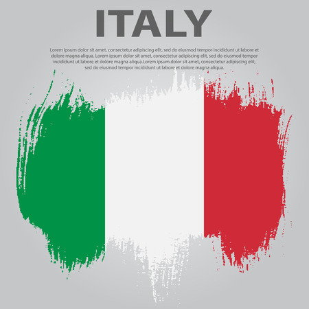 Italian flag. Flag of Italy, brush stroke background. Italian Republic Holiday