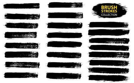 gran conjunto de sellos de pincel de grunge de diseño del cepillo del grunge del 9 aislados en el fondo blanco . negro cepillo de la tinta de los dientes del cepillo de la muestra del cepillo de la tinta del cepillo del vector del vector
