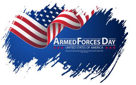 Armed forces day template poster design. Vector illustration background for Armed forces day. Vector illustration Celebration background for Armed Forces Day. Brush stroke background Armed forces day