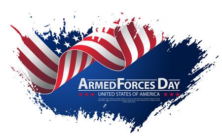 Strijdkrachten dag sjabloon poster ontwerp vector illustratie achtergrond voor strijdkrachten dag. Viering achtergrond voor strijdkrachten dag.