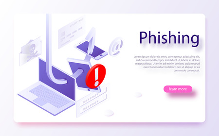 Internet phishing, hacked login and password. Hacking credit card or personal information website. Cyber account attack. Phishing scam, hacker attack and web security concept. online scam and steal.