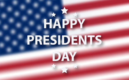 Happy Presidents Day background template.  United States Happy presidents day - poster with flag of the USA. Patriotic background with USA symbols