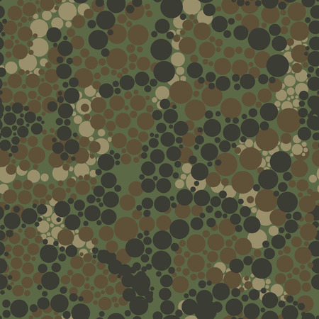 Camouflage pattern background seamless vector illustration. Military camouflage seamless pattern. Four colors. Woodland style camouflage pattern. Classic clothing style masking camo repeat print.