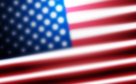 Flag of USA background for independence, veterans, memorial, martin luther king, presidents day and other events. Background of blurred flag of United States of America