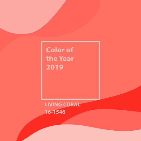Living Coral color of the year. Color of the year 2019 - Living Coral  swatch. Shades of coral, color of the year 2019