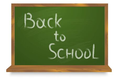 Green Chalkboard Back to School isolated on white. Chalk board back to school frame. Stock fotó - 127873022