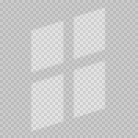 Window light and shadow realistic grey decorative background. Transparent shadow overlay effects for branding. Window frame shadows for natural light effects. Shadow and light from the window.