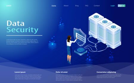 Data protection concept. Secure privacy data in internet. The protection of personal data in cloud storage. Concept with saving code and check access. Internet security, privacy access with password. Stock fotó - 130455763