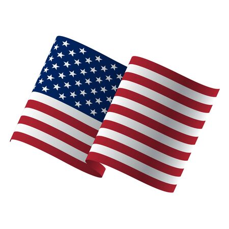 Waving flag of the United States. illustration of wavy American Flag for Independence Day. Stock fotó - 131945954