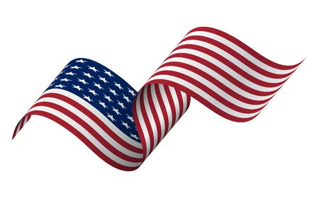Waving flag of the United States. illustration of wavy American Flag for Independence Day. Stock fotó - 131946275