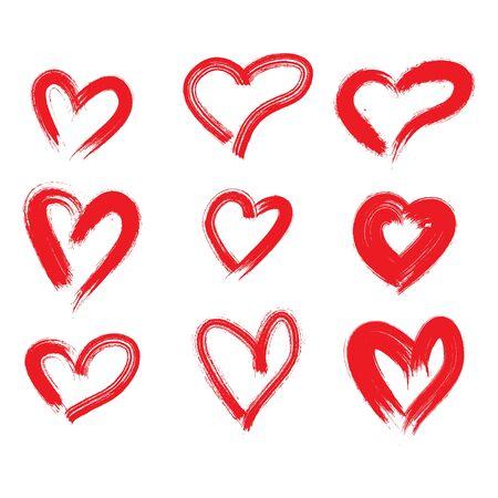 Hand drawn hearts. Design elements for Valentines day, Birthday invitation. Illustration