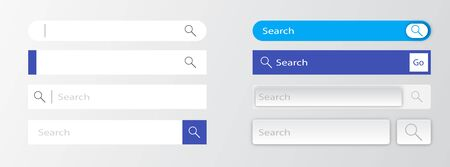 Search bar vector design element. Collection of search form templates for websites. Search bar for interface, design and website