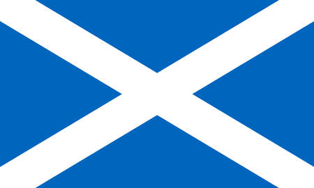 Flag of Scotland. Saint Andrews Cross. National flag of Scotland standard proportion and color. vector illustration 矢量图像