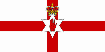 Northern ireland flag. vector illustration. Ulster Banner. Official flag of Northern Ireland