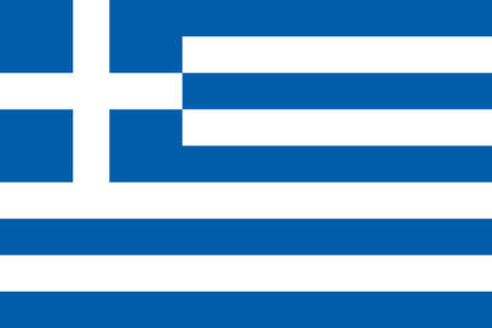Flag of Greece. The color and size of the original. National Flag of Greece. Official national Greece flag. Symbol Freedom or death. blue represents the sea and or sky, white represents sea foam