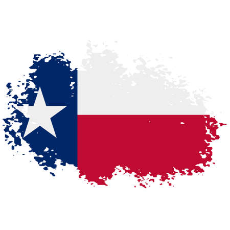 Texas grunge, damaged, scratch, vintage and old. Lone star state flag. Texas grunge flag with a texture. Symbol of the independent spirit of the state of Texas 矢量图像