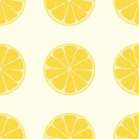 Cute lemon seamless pattern. Seamless background with lemon fruits. Vector seamless pattern of fruits
