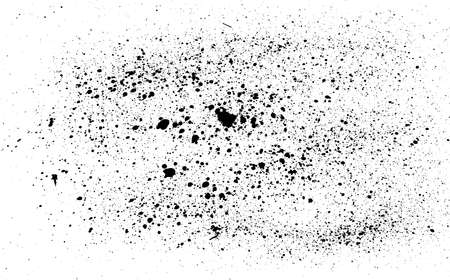 Vector grunge black and white abstract background. Abstract, splattered, dirty, poster for your design. Dirty artistic design elements. Black paint, ink brush strokes, brushes, lines, grungy Ilustrace