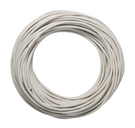 coiled: cable s isolated on a white background