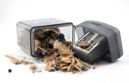 scrap: Sharpener et débris crayon Banque d'images