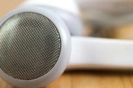 earphone: Close up earphone