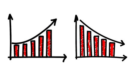 Bar chart illustration – vector Ilustração Vetorial