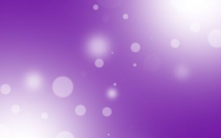 White bokeh on purple background