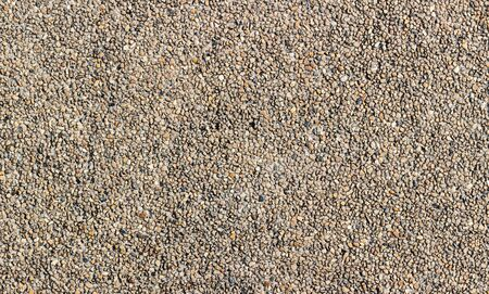 Close up detail of exposed aggregate concrete