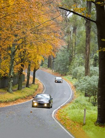Autumn Driving Stock Photo - 1150864