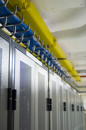 Datacenter Racks and Overhead Cable Management photo
