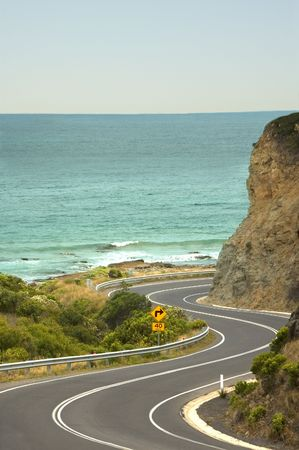 australian scenic: A windy stretch of the Great Ocean Road, Gods gift to recreational drivers.
